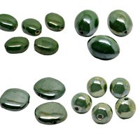 Dark Green Pearlized Beads