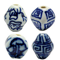 Bicone Porcelain Beads