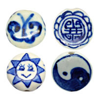 Disc Porcelain Beads