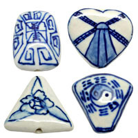 Flat Porcelain Beads