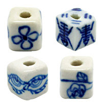 Cube Porcelain Beads