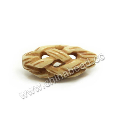Carved Bone Beads, Antique, Chinese Weave, Rice, Approx 10x20mm, Hole:Approx 2mm, Sold by PCS