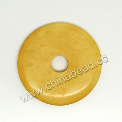 Carved Bone Pendants, Ivory, Smooth Donut, Approx 35x3mm, Hole: Approx 7mm, Sold by PCS