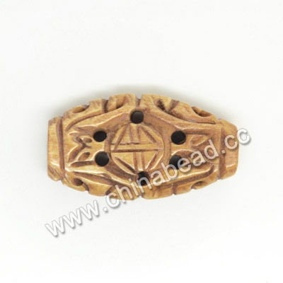 Carved Bone Beads, Antique, Longevity Chinese Symbol, Oval, Approx 25x15x7mm, Hole: Approx 2mm, Sold by PCS