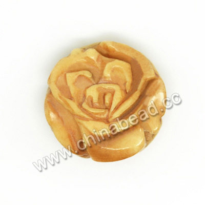 Carved Bone Beads, Antique, Rose Flower, Approx 17x7mm, Hole: Approx 2mm, Sold by PCS