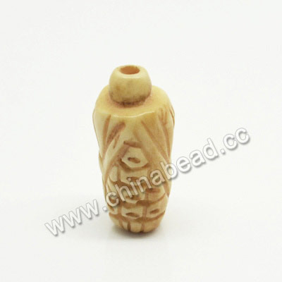 Carved Bone Beads, Ivory, Maize, Other, Approx 9x20mm, Hole: Approx 2mm, Sold by PCS
