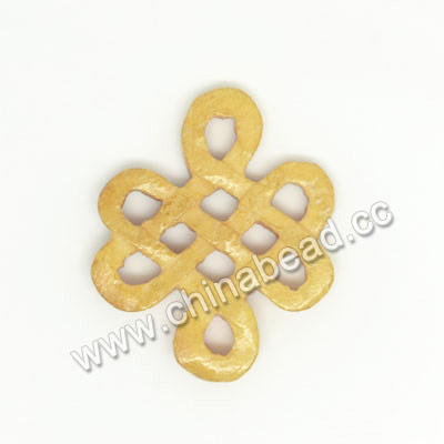 Carved Bone Pendants, Ivory, Chinese Knot, Other, Approx 22x18x3mm, Hole: Approx 3mm, Sold by PCS