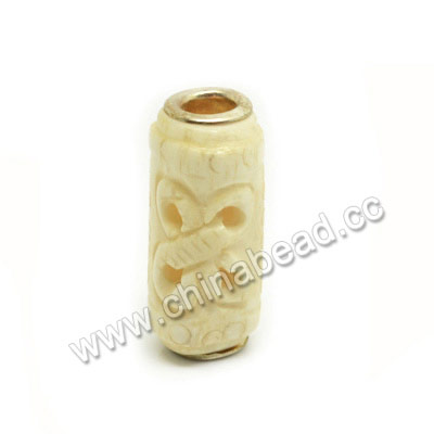 Carved Bone Beads, Ivory, Butterfly Animal, Cylinder, Approx 12x25mm, Hole: Approx 5mm, Sold by PCS