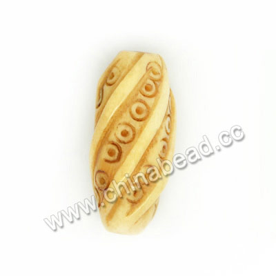 Carved Bone Beads, Antique, Twisted, Rice, Approx 10x20mm, Hole:Approx 2mm, Sold by PCS