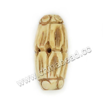 Carved Bone Beads, Antique, Flower Petals, Rice, Approx 10x20mm, Hole:Approx 2mm, Sold by PCS