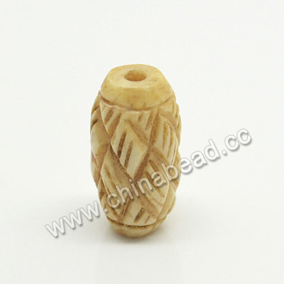 Carved Bone Beads, Ivory, Chinese Weave, Rice, Approx 8x16mm, Hole:Approx 2mm, Sold by PCS