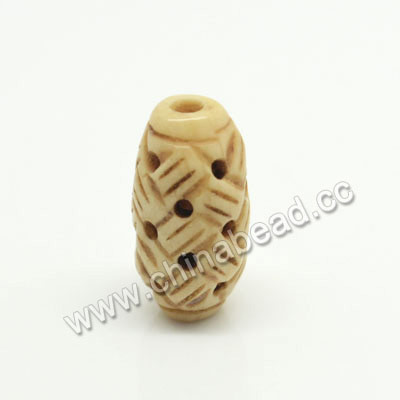 Carved Bone Beads, Antique, Chinese Weave, Rice, Approx 8x16mm, Hole:Approx 2mm, Sold by PCS
