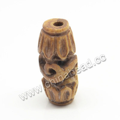Carved Bone Beads, Antique, Leaves & Sprial, Rice, Approx 10x20mm, Hole:Approx 2mm, Sold by PCS