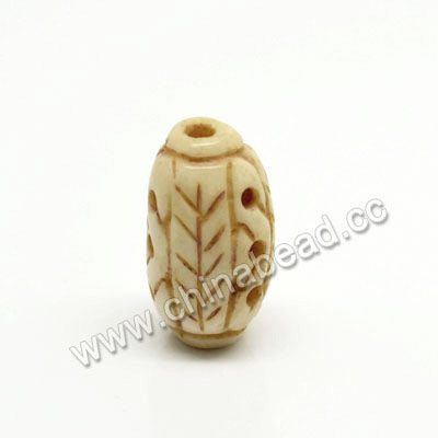 Carved Bone Beads, Antique, Rice, Approx 8x16mm, Hole:Approx 2mm, Sold by PCS