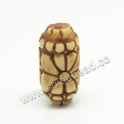 Carved Bone Beads, Antique, Flower, Rice, Approx 10x20mm, Hole:Approx 2mm, Sold by PCS