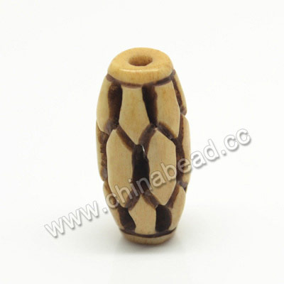 Carved Bone Beads, Antique, Rice, Approx 10x20mm, Hole:Approx 2mm, Sold by PCS
