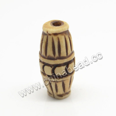 Carved Bone Beads, Antique, Rice, Approx 9x21mm, Hole:Approx 2mm, Sold by PCS