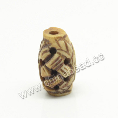 Carved Bone Beads, Antique, Rice, Approx 8x15mm, Hole:Approx 2mm, Sold by PCS
