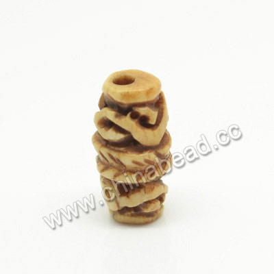 Carved Bone Beads, Antique, Sprial, Rice, Approx 8x15mm, Hole:Approx 2mm, Sold by PCS