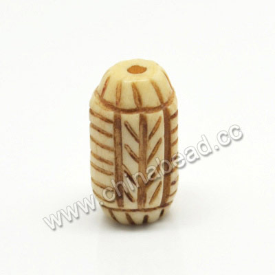 Carved Bone Beads, Antique, Rice, Approx 10x17mm, Hole:Approx 2mm, Sold by PCS