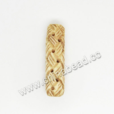 Carved Bone Beads, Antique, Large Chinese Weave Tube, Tube, Approx 10x35mm, Hole:Approx 2mm, Sold by PCS