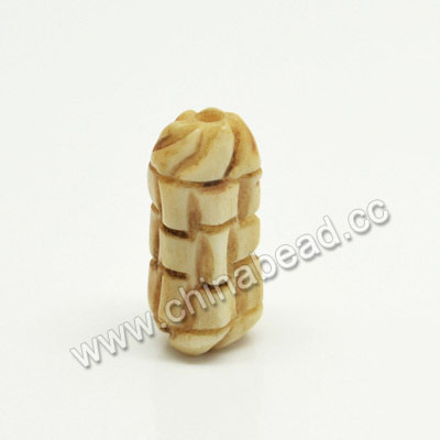Carved Bone Beads, Antique, Tube, Approx 10x20mm, Hole:Approx 2mm, Sold by PCS