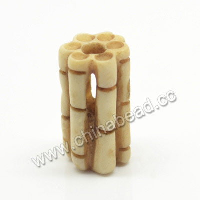 Carved Bone Beads, Antique, Bamboo, Tube, Approx 9x15mm, Hole:Approx 3mm, Sold by PCS