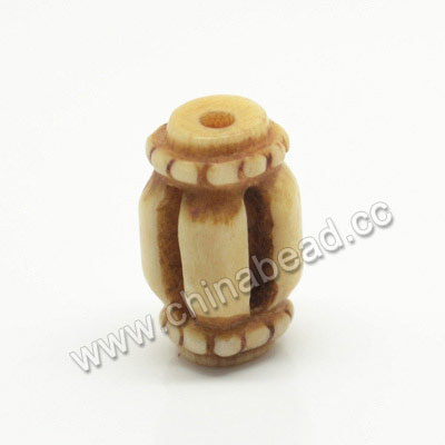 Carved Bone Beads, Antique, Drum/Barrel, Approx 10x16mm, Hole: Approx 2mm, Sold by PCS