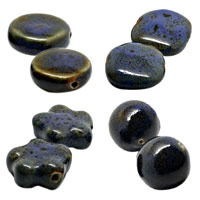 Tanzanite Ceramic Beads