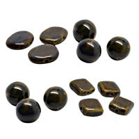 Blue Brown Ceramic Beads