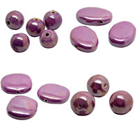 Dark Violet Pearlized Beads