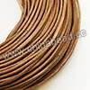 Cord Thread & Wire, Round Leather Cord, Color #1 Lt. brown, Approx 2mm, 100 yards per bundle, Sold by bundles