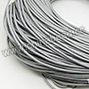 Cord Thread & Wire, Round Leather Cord, Color #6 Lt. grey, Approx 2mm, 100 yards per bundle, Sold by bundles