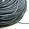 Cord Thread & Wire, Round Leather Cord, Color #7 Dk grey, Approx 2mm, 100 yards per bundle, Sold by bundles