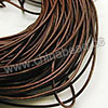 Cord Thread & Wire, Round Leather Cord, Color #9 Brown, Approx 2mm, 100 yards per bundle, Sold by bundles