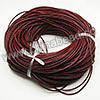 Cord Thread & Wire, Round Leather Cord, Color #3 Reddish brown, Approx 2.5mm, 100 yards per bundle, Sold by bundles