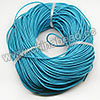 Cord Thread & Wire, Round Leather Cord, Color #4 Deep skyblue, Approx 2.5mm, 100 yards per bundle, Sold by bundles