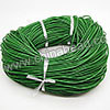 Cord Thread & Wire, Round Leather Cord, Color #5 Green, Approx 2.5mm, 100 yards per bundle, Sold by bundles