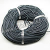 Cord Thread & Wire, Round Leather Cord, Color #7 Dk grey, Approx 2.5mm, 100 yards per bundle, Sold by bundles