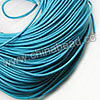 Cord Thread & Wire, Round Leather Cord, Color #4 Deep skyblue, Approx 2mm, 100 yards per bundle, Sold by bundles