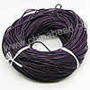 Cord Thread & Wire, Round Leather Cord, Color #8 Indigo, Approx 2.5mm, 100 yards per bundle, Sold by bundles