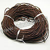Cord Thread & Wire, Round Leather Cord, Color #9 Brown, Approx 2.5mm, 100 yards per bundle, Sold by bundles