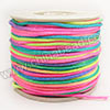 Cord Thread & Wire, Satin Cord, Color #01 multi-colored, Approx 2mm, 50 yards per spool, Sold by spools