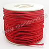 Cord Thread & Wire, Satin Cord, Color #05 red, Approx 2mm, 50 yards per spool, Sold by spools
