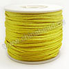 Cord Thread & Wire, Satin Cord, Color #06 yellow, Approx 2mm, 50 yards per spool, Sold by spools