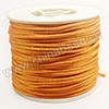Cord Thread & Wire, Satin Cord, Color #08 dark orange, Approx 2mm, 50 yards per spool, Sold by spools