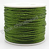 Cord Thread & Wire, Satin Cord, Color #09 dark olive, Approx 2mm, 50 yards per spool, Sold by spools