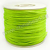 Cord Thread & Wire, Satin Cord, Color #10 greenyellow, Approx 2mm, 50 yards per spool, Sold by spools
