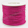 Cord Thread & Wire, Satin Cord, Color #11 violet red, Approx 2mm, 50 yards per spool, Sold by spools