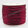 Cord Thread & Wire, Satin Cord, Color #16 pupple red, Approx 2mm, 50 yards per spool, Sold by spools